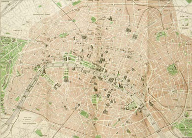 Map of Paris 1948