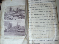 Another spread from the Diary and Scrapbook of an Infantryman in Europe