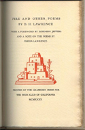 Fire and Other Poems by D.H. Lawrence
