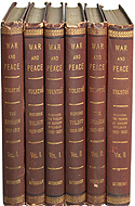 War and Peace: Before Tilsit, 1805-1807 Vol. I & II; The Invasion, 1807-1812 Vol I & II; Borodino, The French at Moscow, Epilogue, 1812-1820 Vol I & II. By Leo Tolstoy