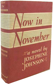 Now in November by Josephine Johnson