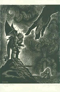 A wood engraving from Fables With a Twist, by Fritz Eichenberg