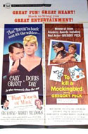 To Kill a Mockingbird, Touch of Mink and Other 1960s movie posters