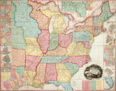 A New Map of the United States Reflecting the 1840 Census Returns and Westward Expansion