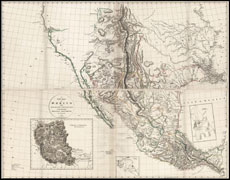 A New Map of Mexico and Adjacent Provinces - 1810