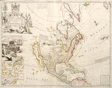 North America - The Codfish Map - 1730