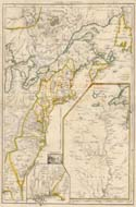 Map of Eastern Colonial Canada and United States - 1755