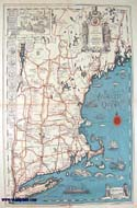 Map of New England - 1928