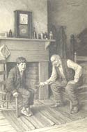 Charcoal drawing from The Adventures of Tom Sawyer by Worth Brehm