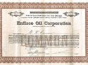 Enfisco Oil Corporation  stock certificate