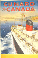 Vintage travel posters of  Canada