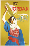 Vintage travel posters of Jordan