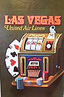 Vintage travel posters of Las Vegas