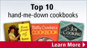 See the most popular cookbooks to be handed down through the generations.