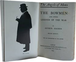 Inside title page of The Angels of Mons and Other Legends of the War by Arthur Machen