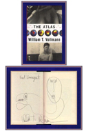 The Atlas by William Vollmann - inscribed to Kurt Vonnegut