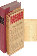 The Wasted Generation by Owen Johnson - inscribed to novelist Hugh Walpole