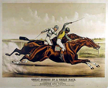Great Horses in a Race (1891)