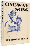 One-Way Song by Wyndham Lewis