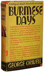 First edition of Burmese Days by George Orwell