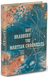 First edition of The Martian Chronicles by Ray Bradbury