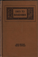 Days to Remember: The British Empire and the Great War (1923)