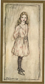 Illustration of Alice by Arthur Rackham