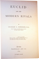 Euclid and his Modern Rivals by Charles L. Dodgson