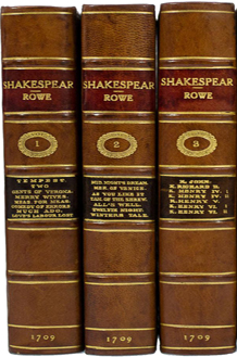The Works of Mr. William Shakespear in Six Volumes edited by Nicholas Rowe