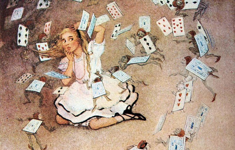 Alice's Adventures in Wonderland - illustrated by Gwynedd Hudson
