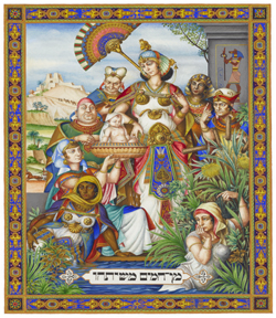 The Szyk Haggadah, Baby Moses. Lodz, 1935