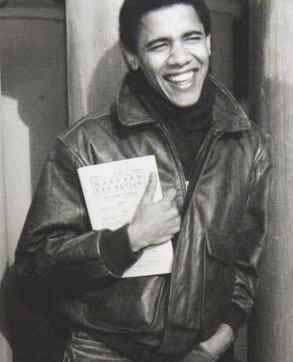 Barack Obama with a Book