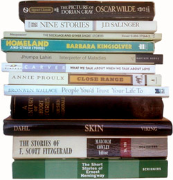 stack of short story collections