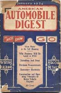 American Automobile Digest, 1924