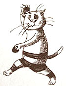 An illustration of a cat by Edward Gorey