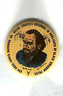 Charles Bukowski button with art by R. Crumb