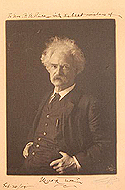 Signed photo of Mark Twain
