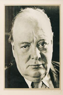 Signed photo of Winston Churchill