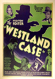 1937 movie poster from The Westland Case, based on the 1935 novel Headed for a Hearse by Jonathan Latimer