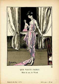 Que Vas-tu Faire! Robe du soir, de Worth