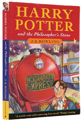 Rare first edition 'harry potter' book worth over $55,000 usd.