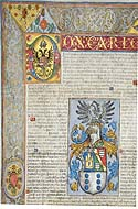 Grant of Arms to Gregorio de Castro by Emperor Charles V