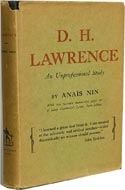 D. H. Lawrence: An Unprofessional Study by Ana�s Nin