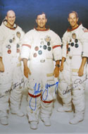 John W. Young, landed April 21-23, 1972 – signed group photo