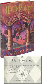 A First American  Edition of Harry Potter and the Sorcerer's Stone Signed by Author JK Rowling