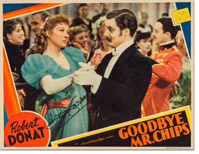 Lobby Card for Goodbye, Mr. Chips signed by Greer Garson