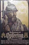 Altona's Opfertag 18 January 1916. (German World War 1 poster)