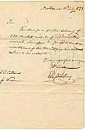 Record of Sale of Muskets from Eli Whitney