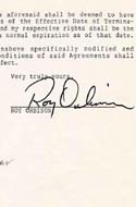 Signed Roy Orbison Contract