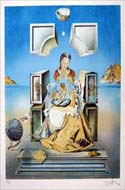 Madame de Port Lligat  - a lithograph by Salvador Dali